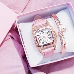 Дамски часовник и гривна Ellia