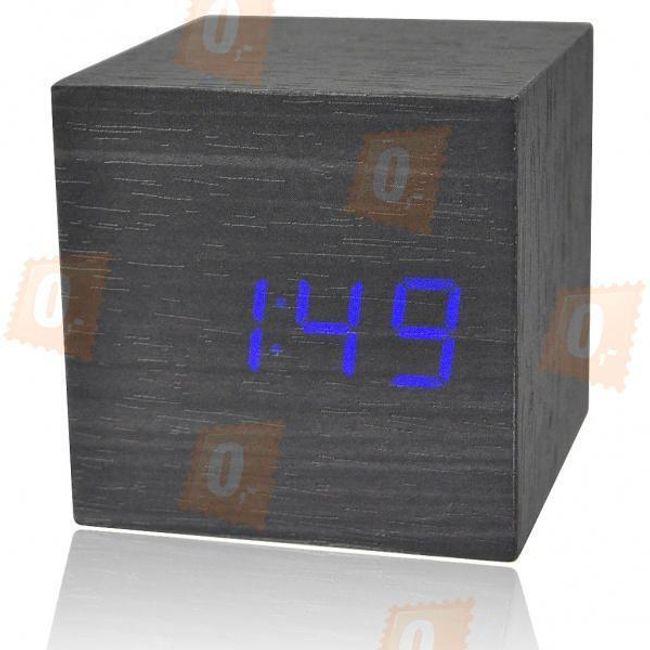Dřevěné stolní dekorační hodiny - 2 barvy podsvícení 1