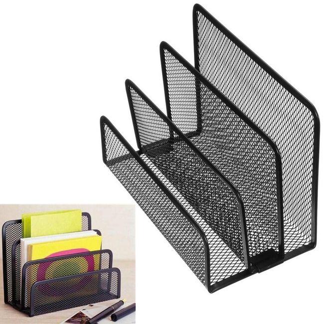 Органайзер для документов металлический - черный 1