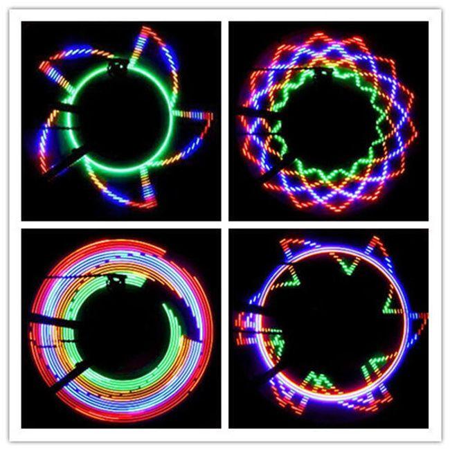 Pestrobarevné 16 LED světlo na ráfky 1