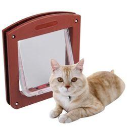 Ușă batantă pentru pisici - 2 culori