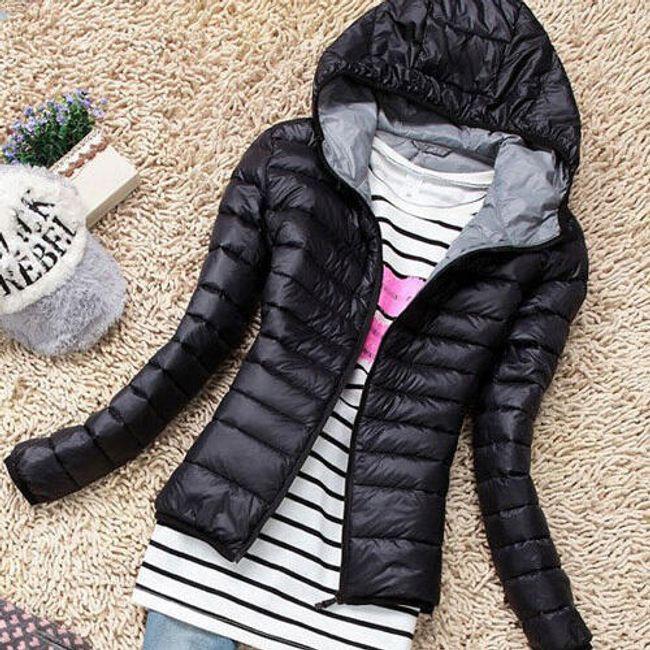 Dámská lehká bunda proti větru - Černá-velikost č. 5 1