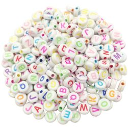 Gyöngyök betűkkel 100db - különböző típusok