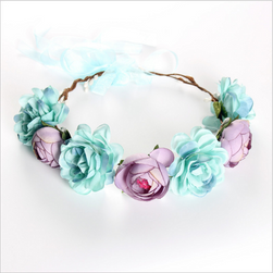 Coronita florala pentru par - diverse culori
