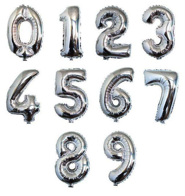 Svetleči napihljivi baloni za praznovanja in zabave v obliki številk 1