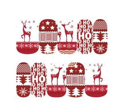 Рождественские наклейки для ногтей