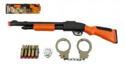 Puška/brokovnice +pouta+náboje na přísavky plast 50cm na kartě RM_00311277