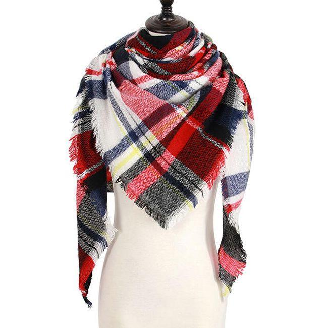 Dámský teplý šátek na zimu 1