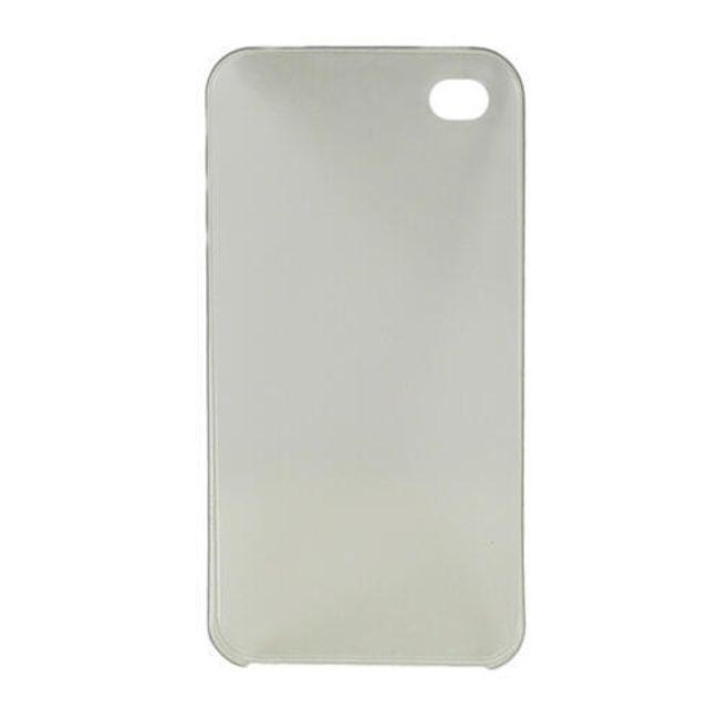 Plastový ochranný kryt na iPhone 4 a 4S - šedý ultratenký průsvitný 0.3 mm 1