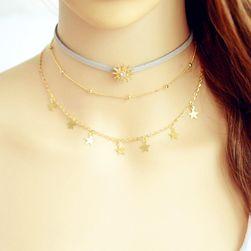 Choker náhrdelník s hvězdičkami