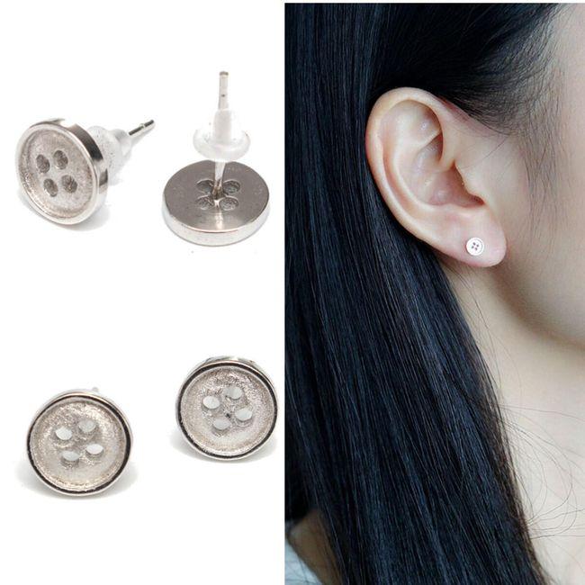Fülbevalók mini gombok formájában 1