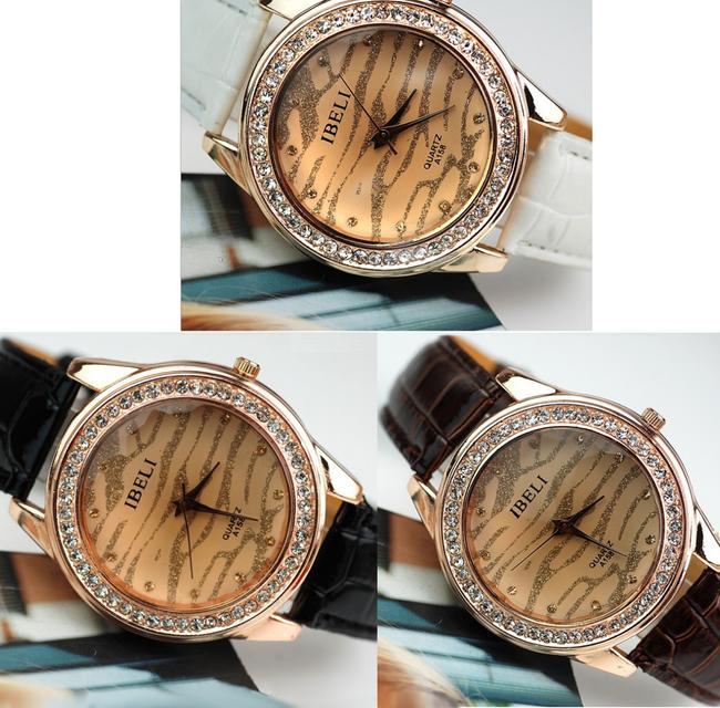 Damski zegarek z błyskotkami na tarczy - oferujemy kilka kolorów 1