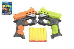 Pistole 2ks 12cm plast na pěnové náboje + 6ks nabojů na kartě RM_00311516