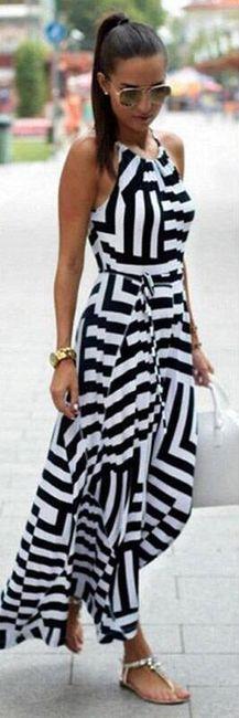Полосатое платье на тонких бретелях- 7 цветов 1