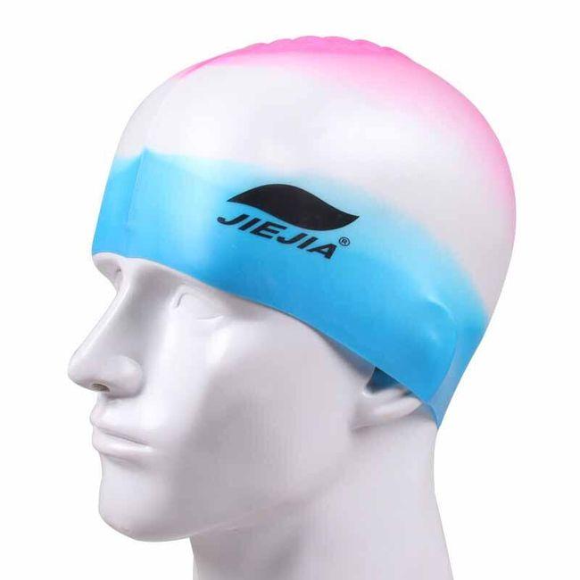 Plavecká čepice v duhových barvách  1