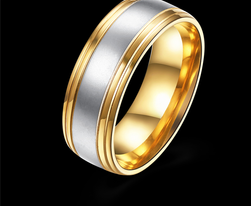 Pánský prsten s kombinací barev