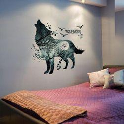 Настенная клейкая этикетка - Волчья луна
