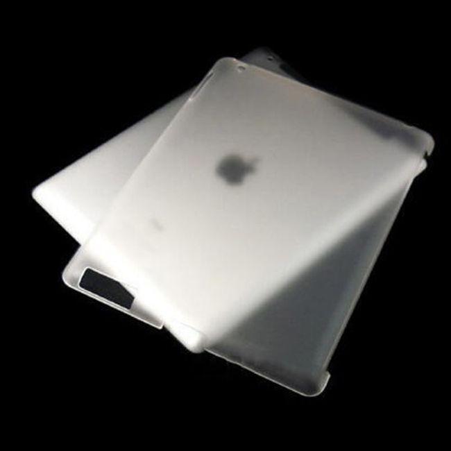 Průsvitný ochranný zadní kryt pro iPad 2 - bílý 1