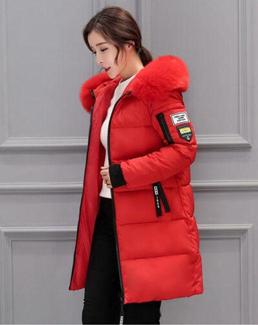 Dámská zimní bunda Alexia - Červená-M 1