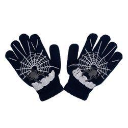 Dětské zimní rukavičky  s pavoukem černé - černá/104 (3-4r) SR_892186