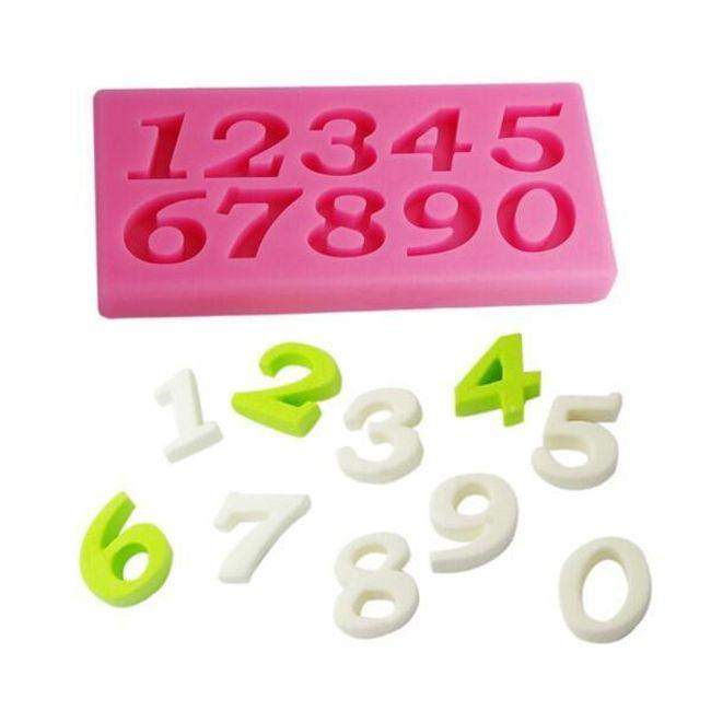 Силиконова форма с числа 1