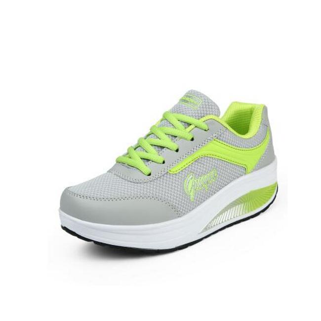 Dámská sportovní obuv s vyšší podrážkou - Zelená-40 1