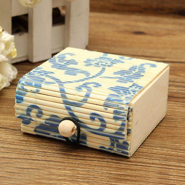 Cutie de bijuterii din lemn de bambus 19