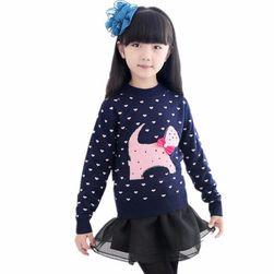Dívčí svetr s obrázky - 21 variant