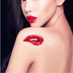 Переводная татуировка в форме соблазнительных губ- 5 шт.