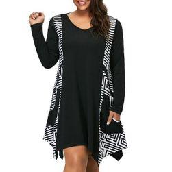 Женское платье с длинными рукавами Marwen Чёрный - Размер 5