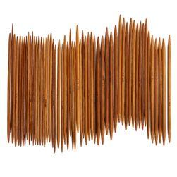 Bambusové pletací jehlice - 55 ks
