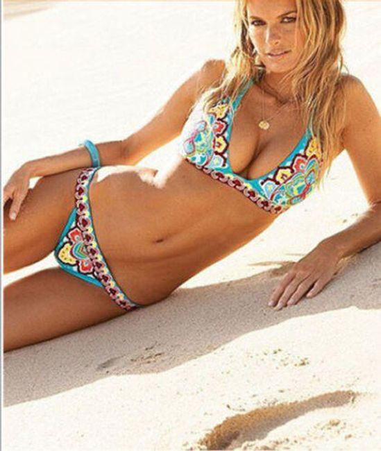 Bikini sa motivima cveća 1