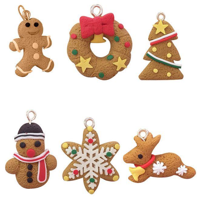 Božićni ukrasi raznih oblika - 6 komada 1