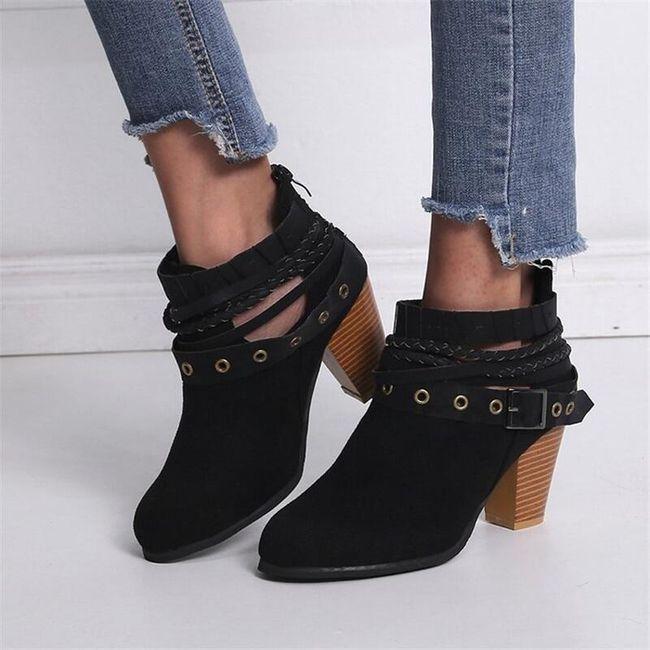 Damskie buty na obcasie TF9284 1