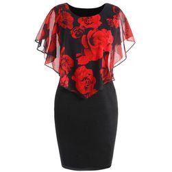 Dámske šaty Ericka v plus size veľkostiach - Červená farba - veľkosť 2XL