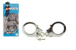 Pouta policejní kov 17cm s klíčem na kartě RM_00311514