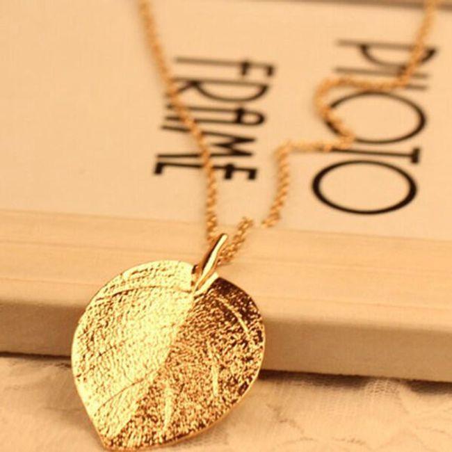 Nyaklánc arany színű levéllel 1