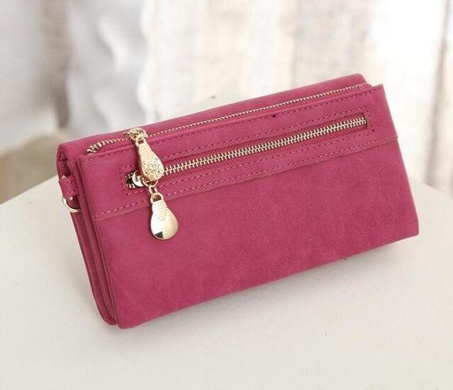 Elegantní peněženka se zipy - 8 barev 1
