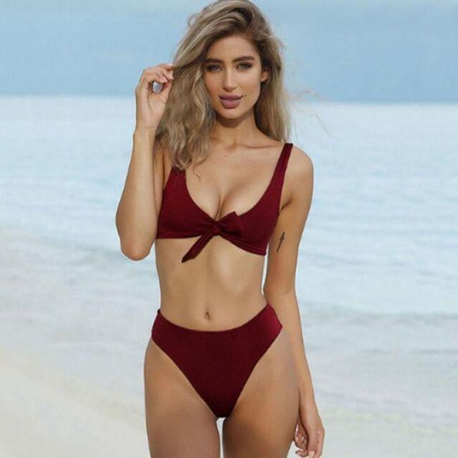 Ženski kupaći kostim sa višim strukom Ester 1