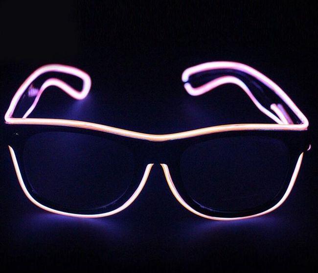 Svítící párty brýle - mix barev 1