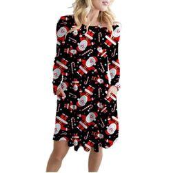 Damska sukienka bożonarodzeniowa Ewon