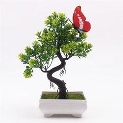 Veštački bonsaj sa leptirom - 6 boja