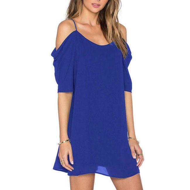 Lehké letní šaty s odhalenými rameny 1