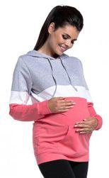 Těhotenská a kojící mikina - různé barvy