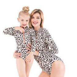 Цельный купальник для мамы и дочки Helga