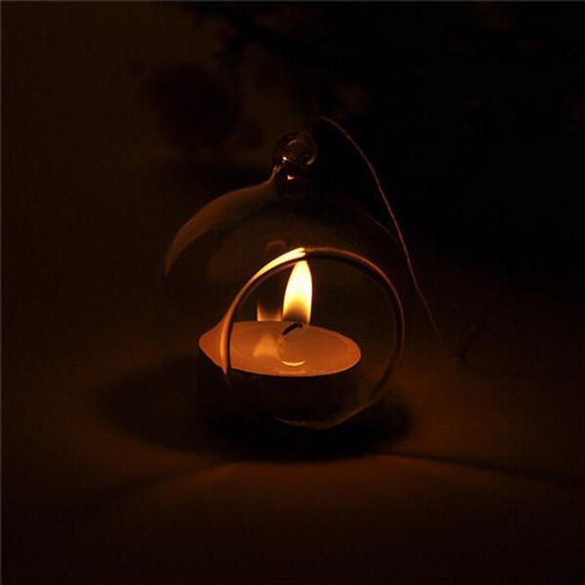 Viseči svečnik v obliki kroglice 1