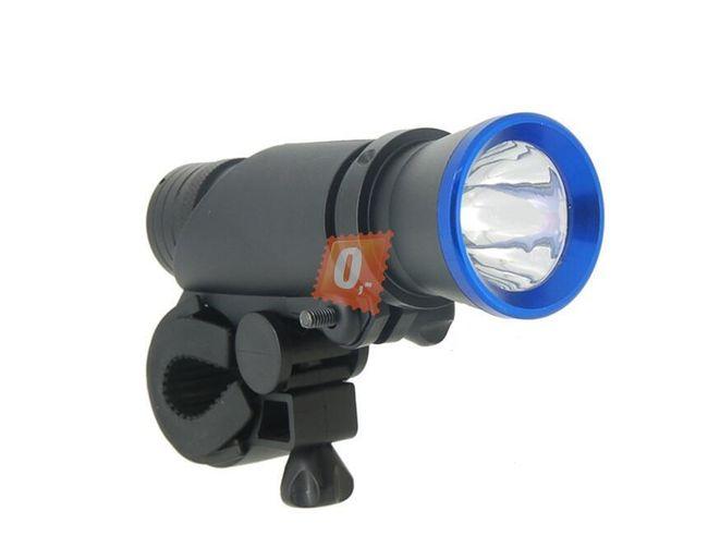 3W výkonná LED hliníková svítilna na kolo i do ruky  1