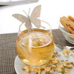 Silikonowe sitko do herbaty w kształcie motyla - 6 kolorów