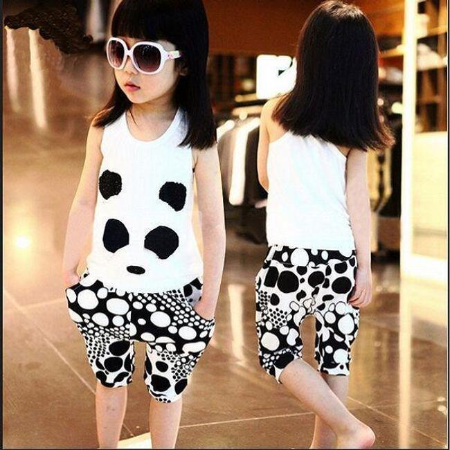 Lány pólós motívumú pólók és nadrágok 1