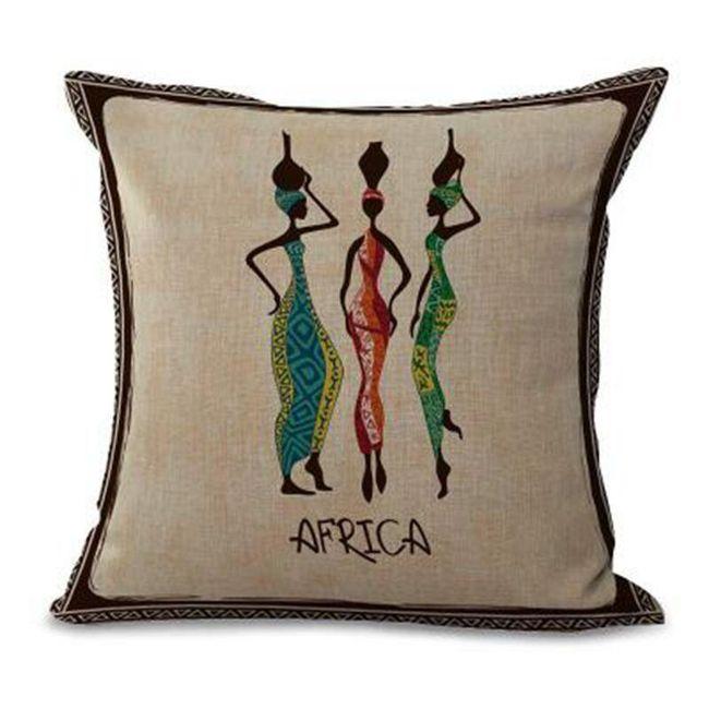 Povlak na polštář - africké motivy 1